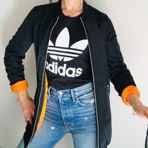 Adidas Neo Jacket Long Bomber Black Small